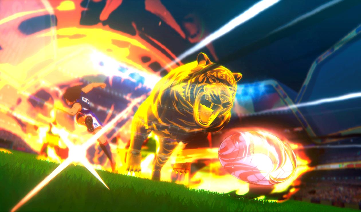 Stive Hyūga hace el tiro del tigre