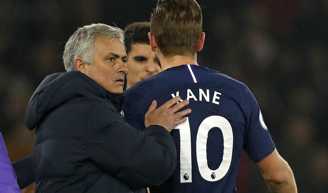 Harry Kane y José Mourinho en el Tottenham