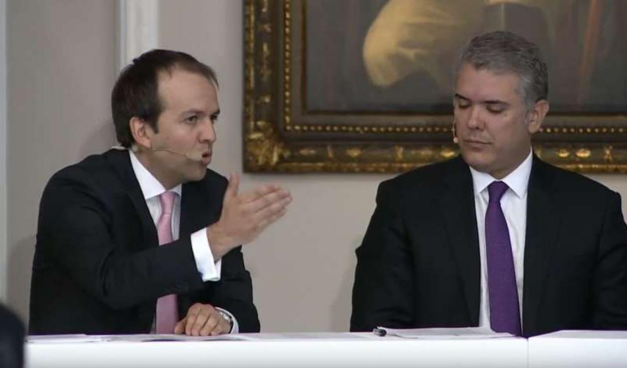 Ernesto Lucena e Iván Duque