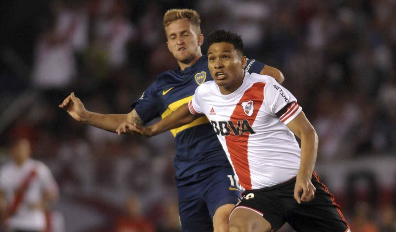 Teófilo Gutiérrez, jugador colombiano, en un clásico River - Boca