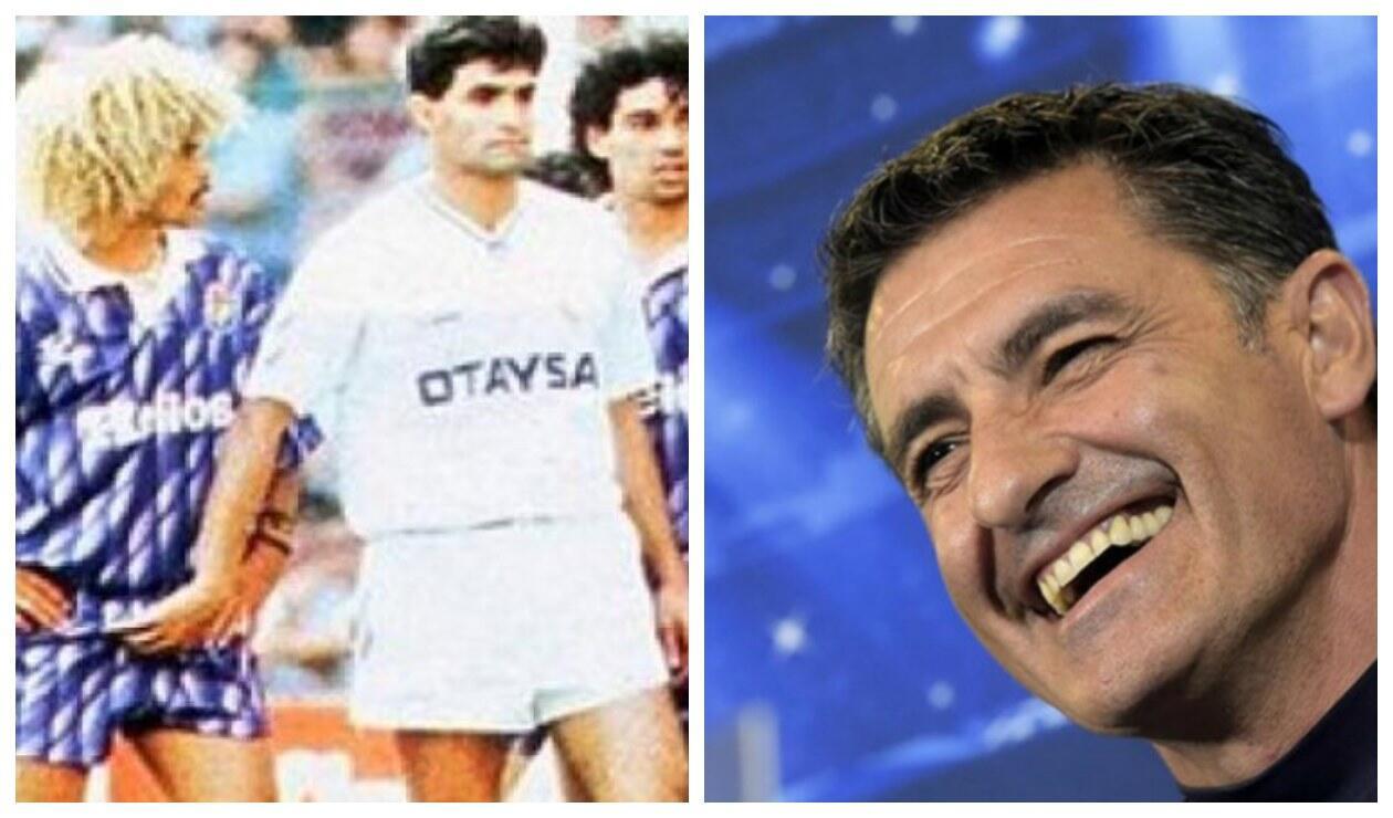 Carlos Valderrama y Míchel González