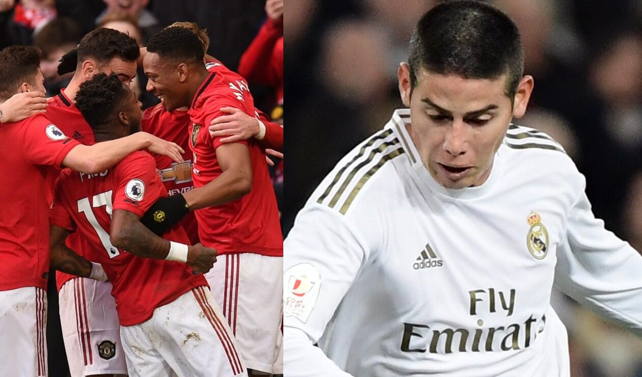 James Rodríguez, Real Madrid, Manchester United
