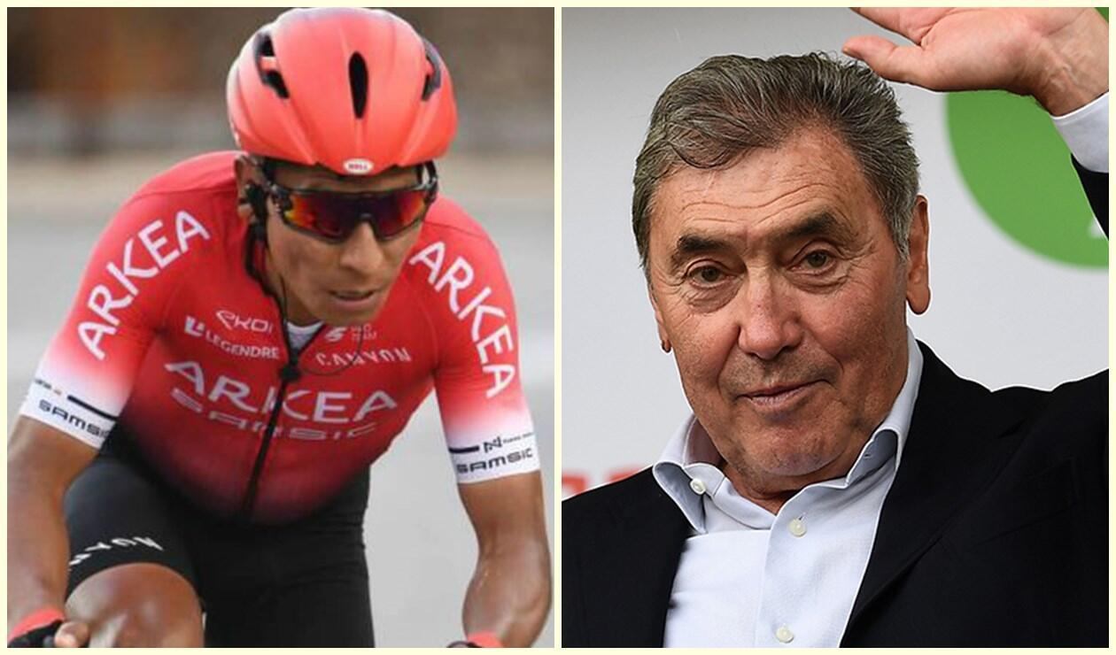 Nairo Quintana y Eddy Merckx
