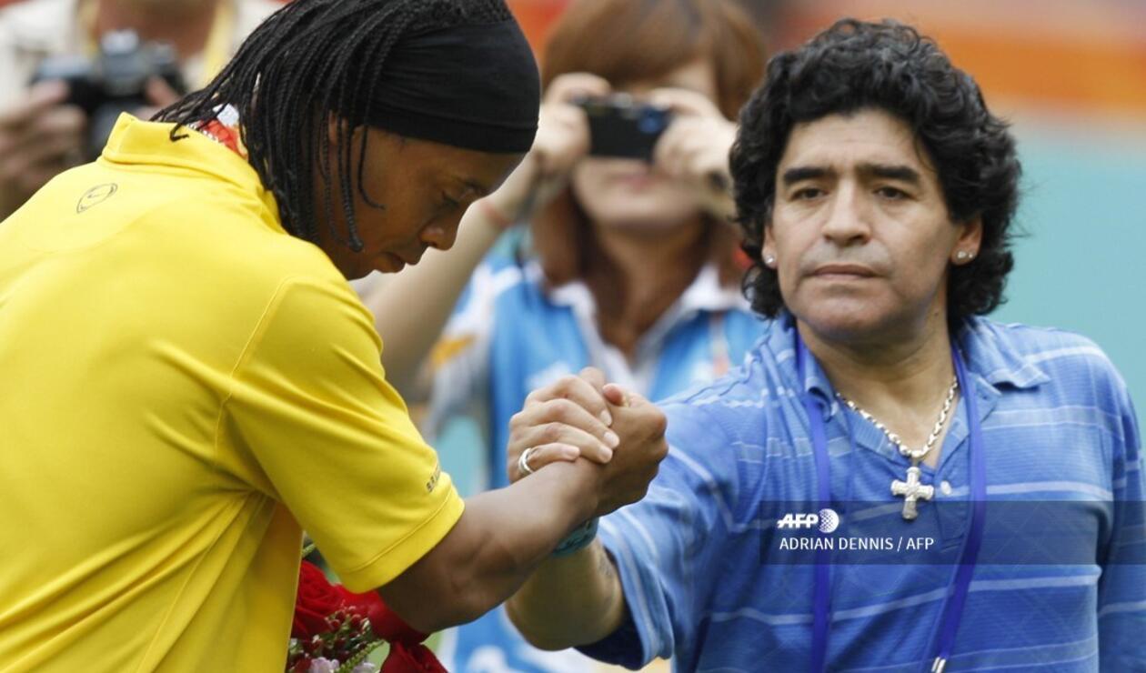 Maradona y Ronaldinho