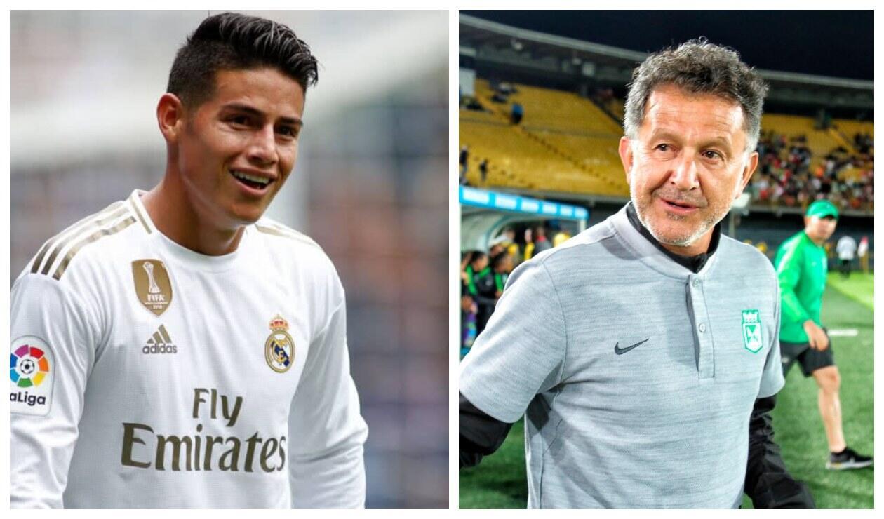 James Rodríguez y Juan Carlos Osorio