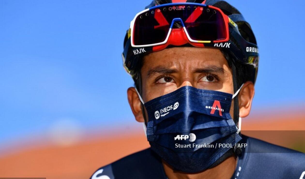 Egan Bernal, ciclista colombiano del Team Ineos