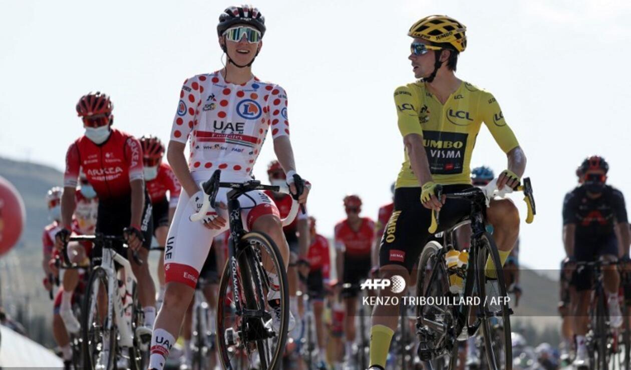 Tadej Pogacar y Primoz Roglic, Tour de Francia 2020