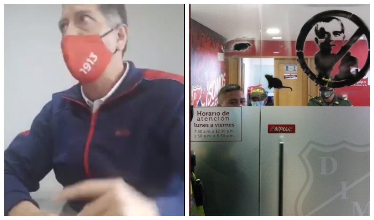 Vandalismo en sede del DIM