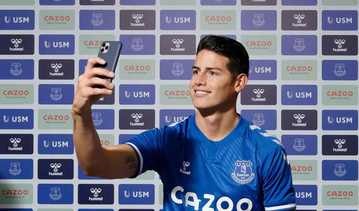 James Rodríguez, nuevo jugador de Everton.