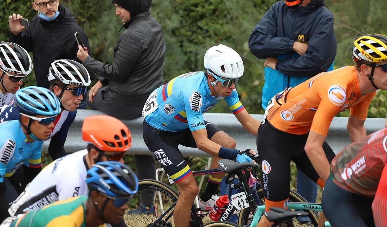 Rigoberto Urán, con la Selección Colombia de ciclismo
