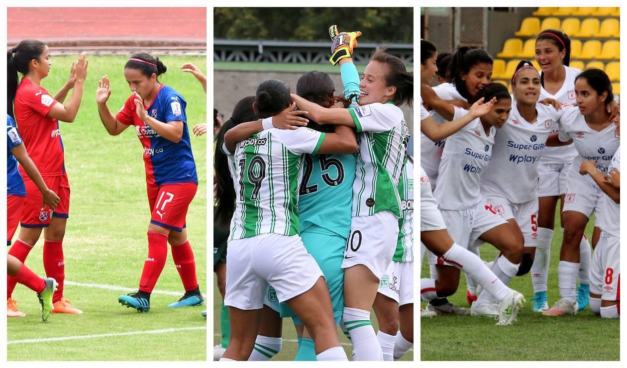 Medellín, Nacional y América - Liga Femenina