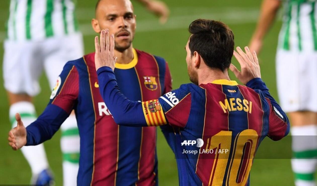Messi, figura del Barcelona ante el Betis