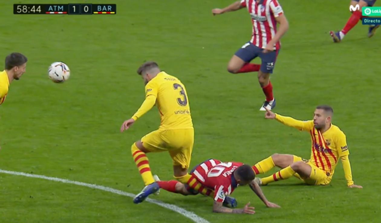 Gerard Piqué, Atlético vs Barcelona