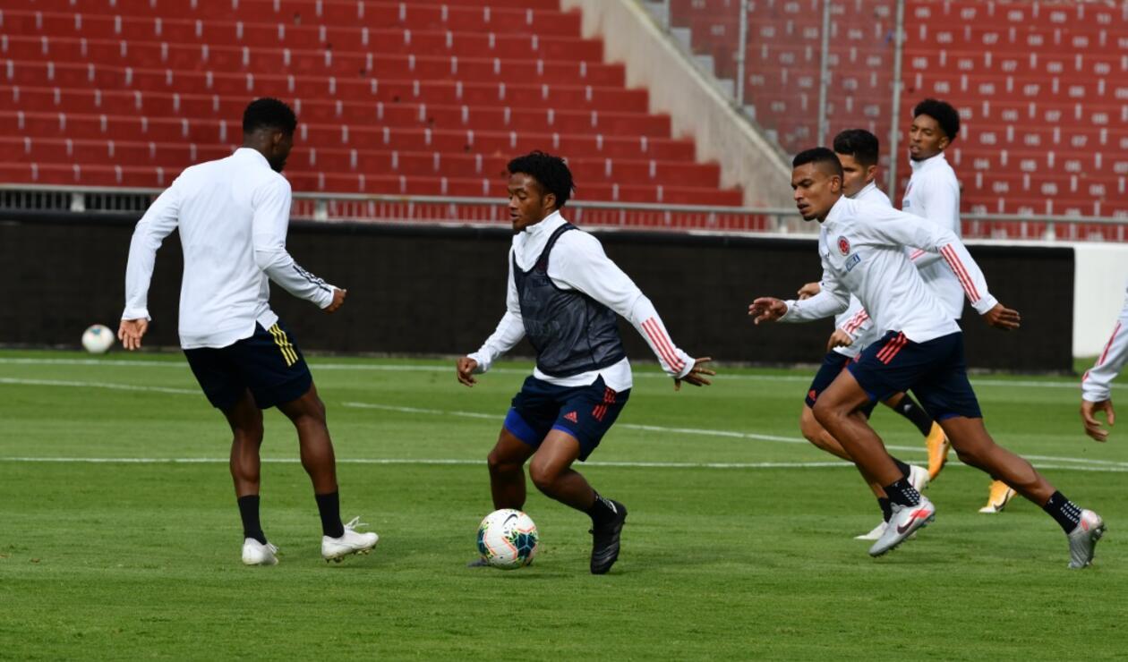 Selección Colombia- Entrenamiento en Quito