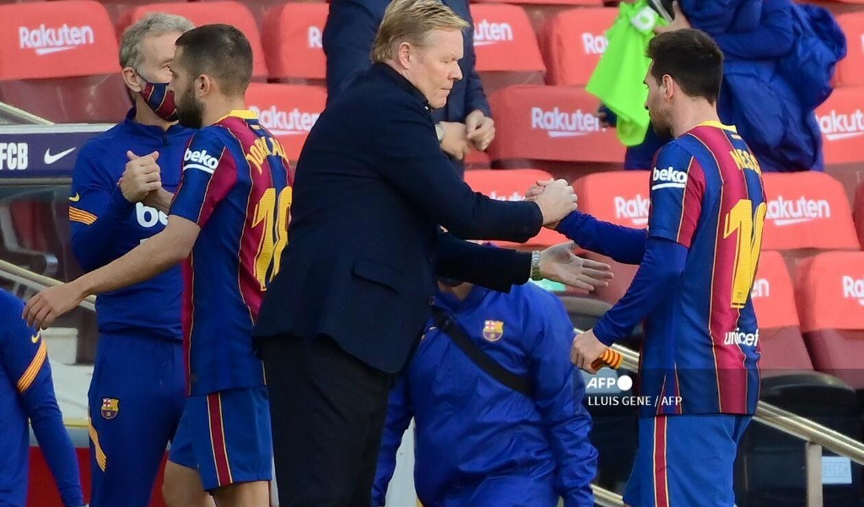 Koeman y Messi - Barcelona 2020