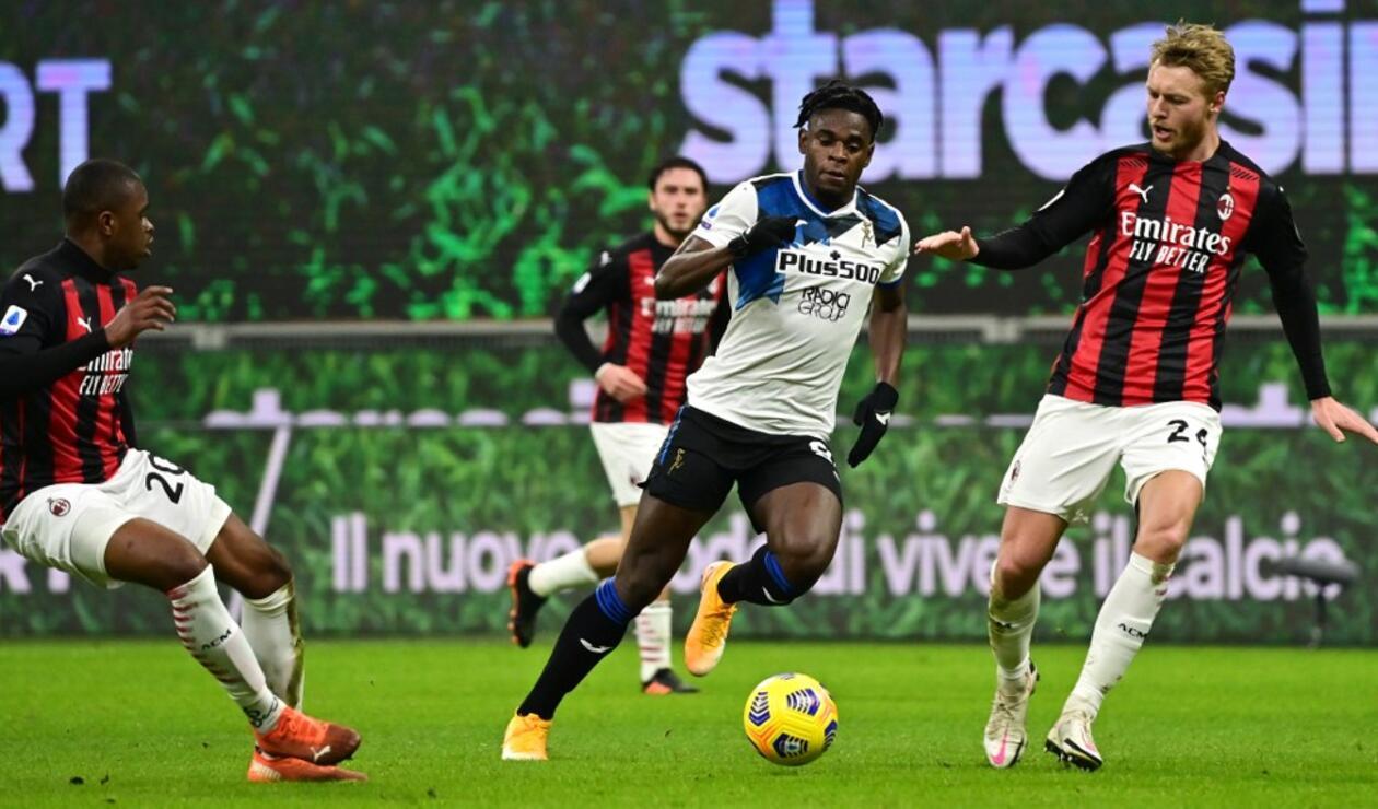 Milán vs Atalanta, Duván Zapata