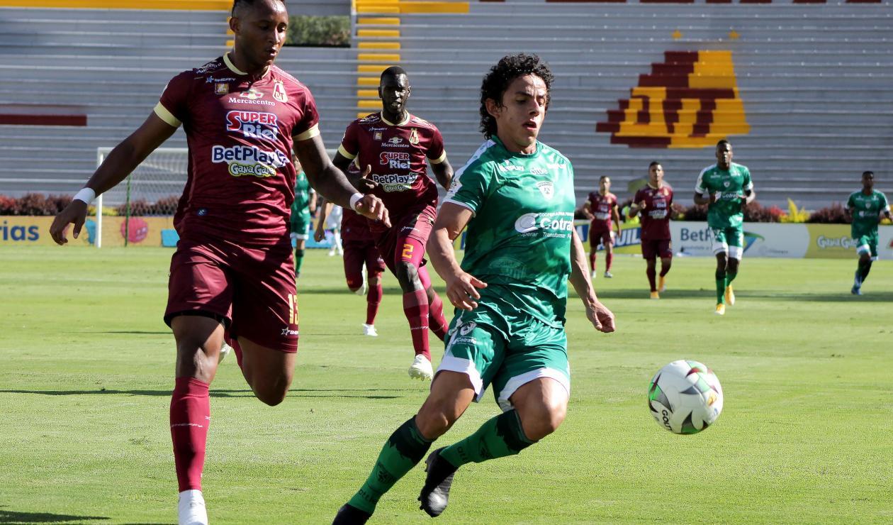 Deportes Tolima vs La Equidad
