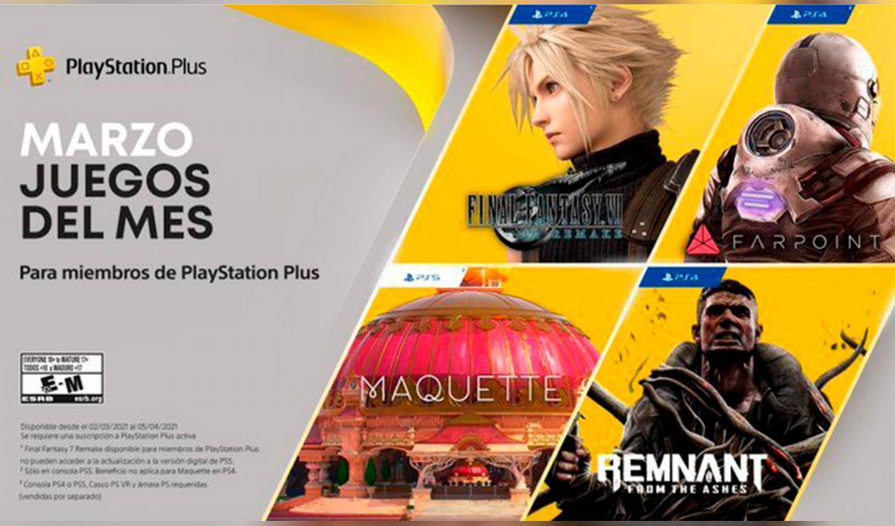 Juegos gratis PlayStation+ marzo 2021