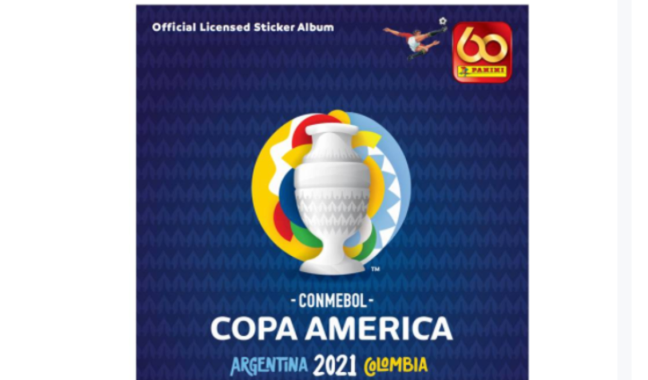 Portada álbum Panini, Copa América 2021
