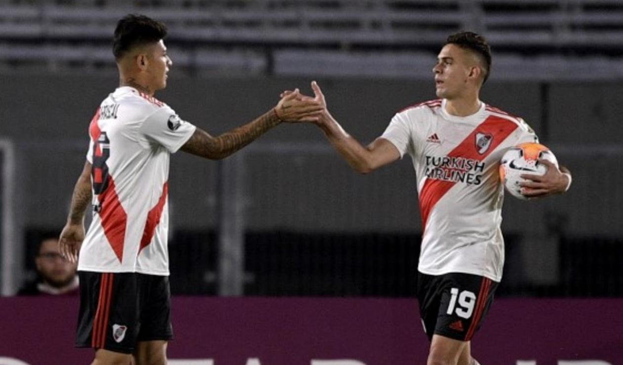 Jorge Carrascal y Rafael Santos Borré; River Plate 2021