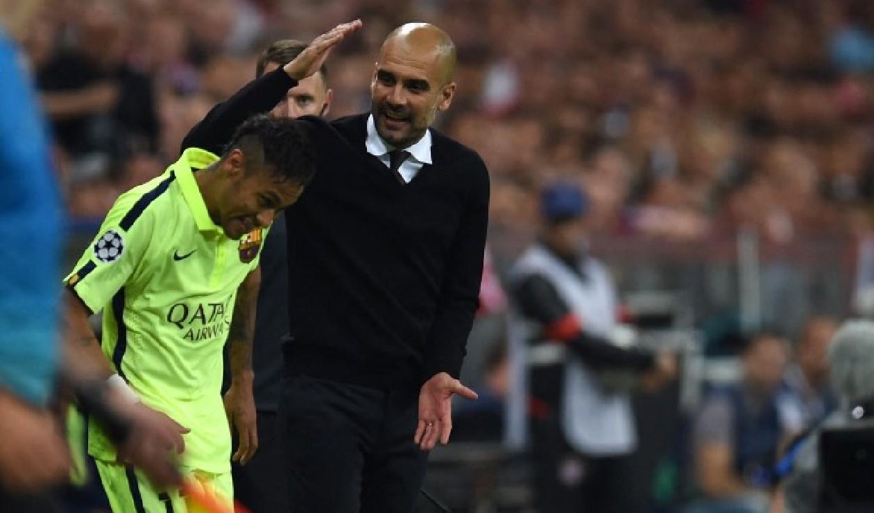 Neymar y Guardiola