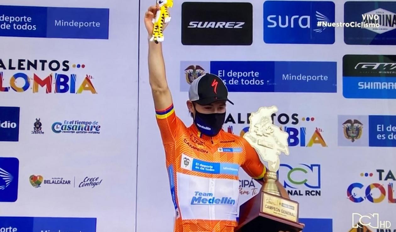 Tito Hernández, campeón de la Vuelta a Colombia