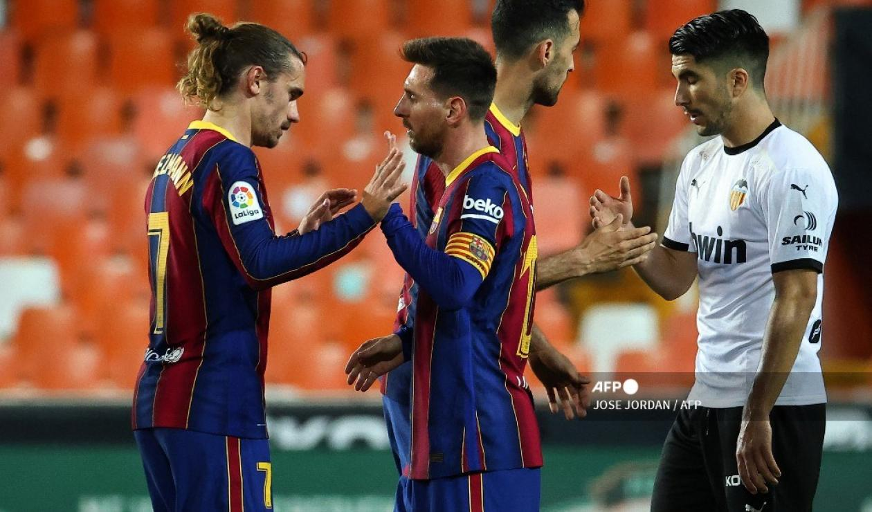 Valencia vs Barcelona, Liga española 2021