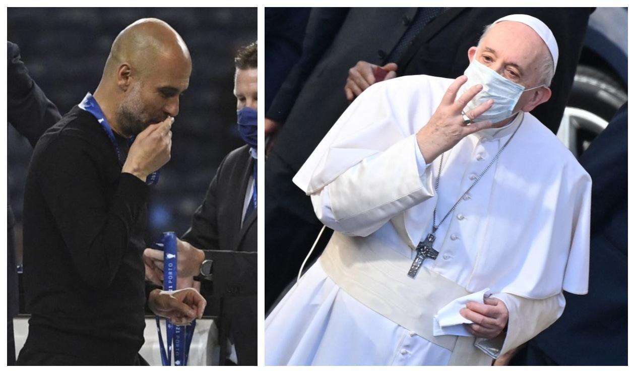 Pep Guardiola y Papa Francisco