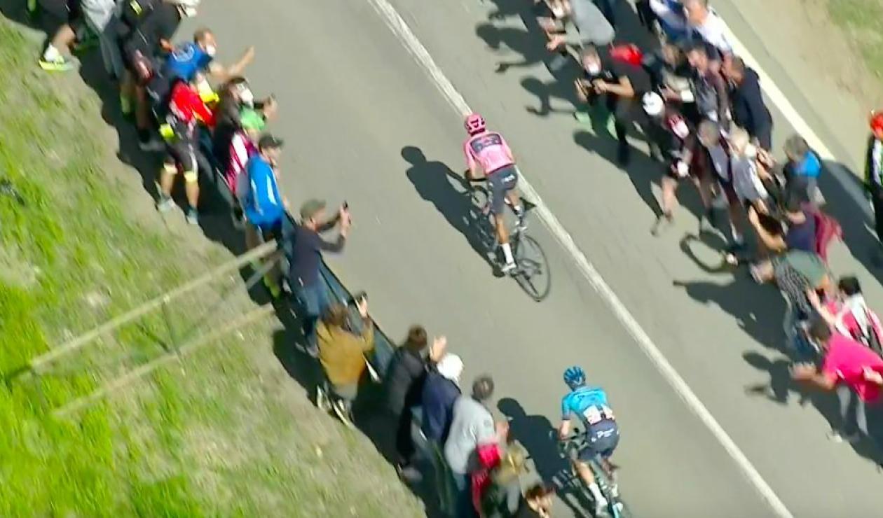 Egan Bernal, ataque Giro de Italia, etapa 11