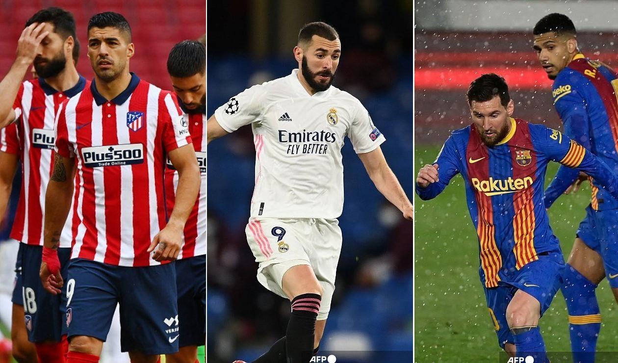Liga española 2021, Real Madrid, Atlético de Madrid, Barcelona