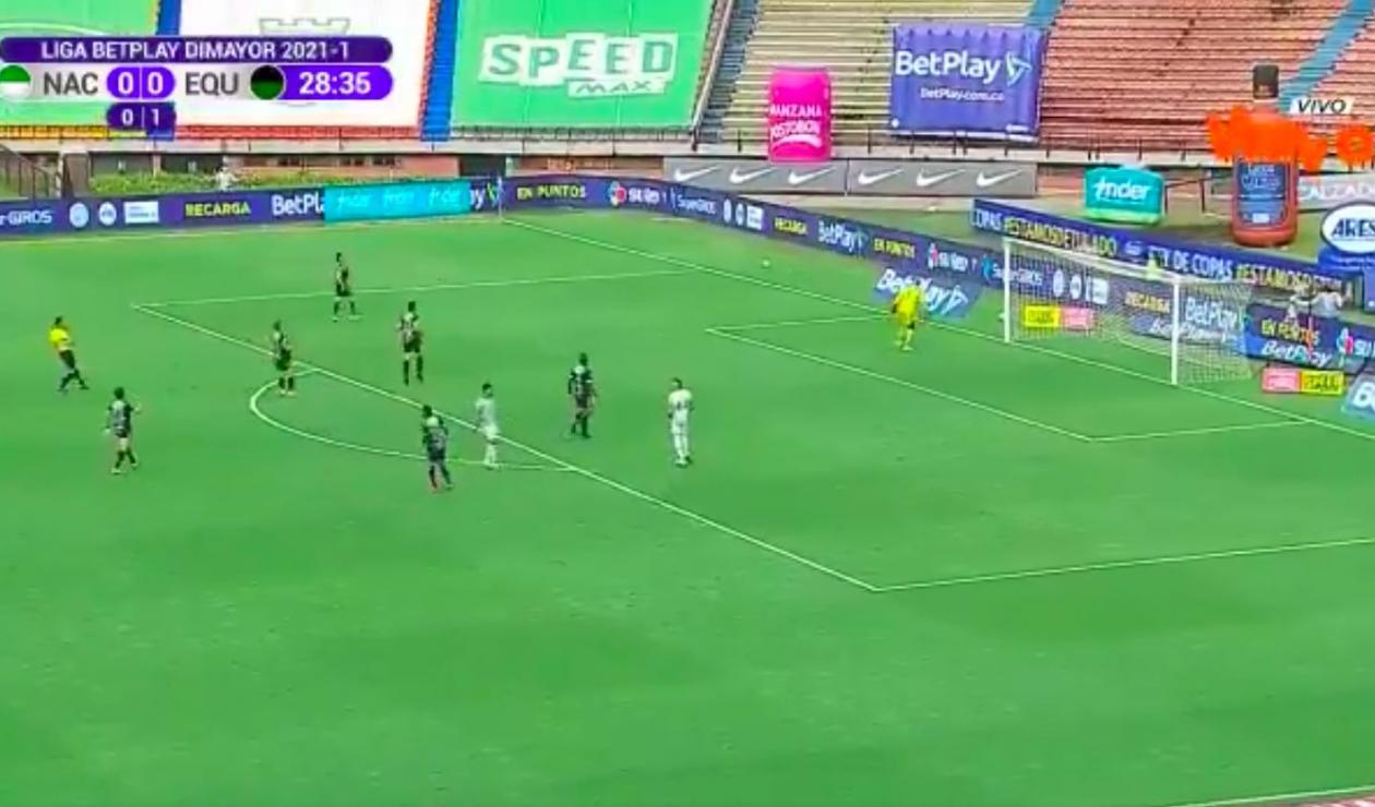 Nacional vs La Equidad, Liga Betplay 2021