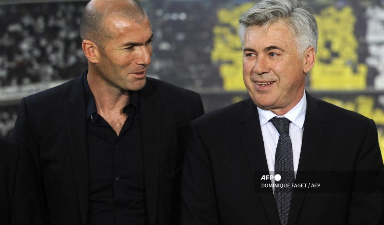 Zidane y Ancelotti - Real Madrid