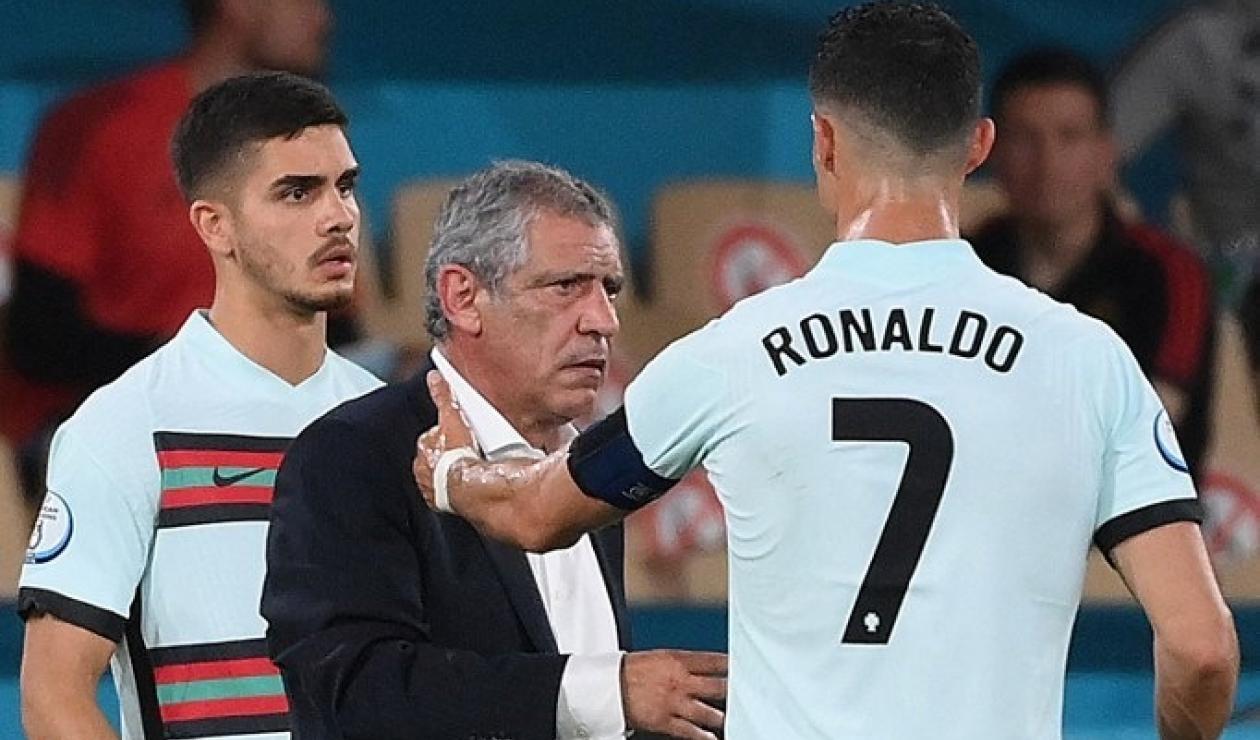 Fernando Santos y Cristiano Ronaldo - Portugal