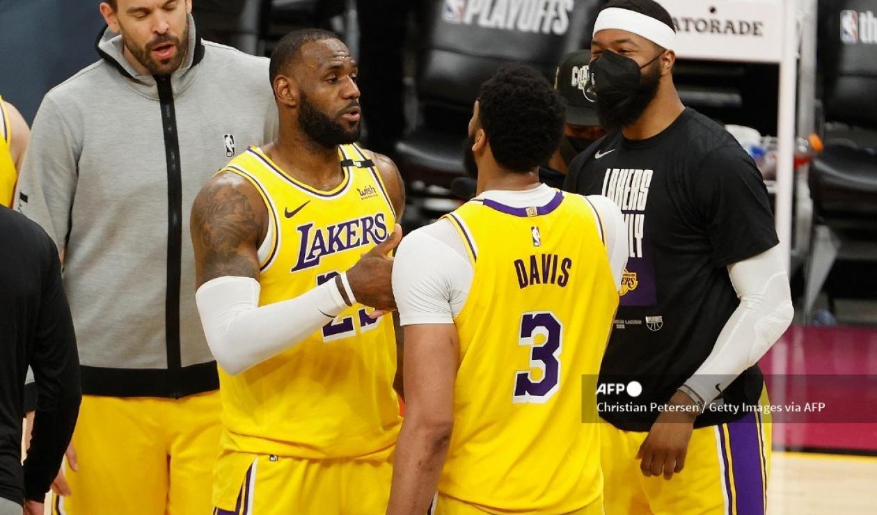 LeBron James y Anthony Davis
