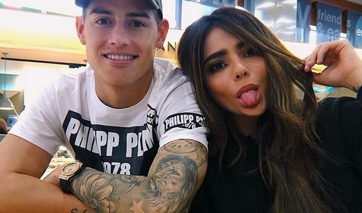 James Rodríguez y su hermana Juan Valentina