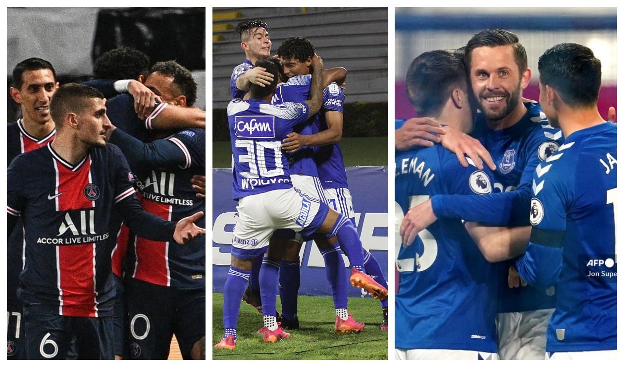 PSG, Millonarios y Everton