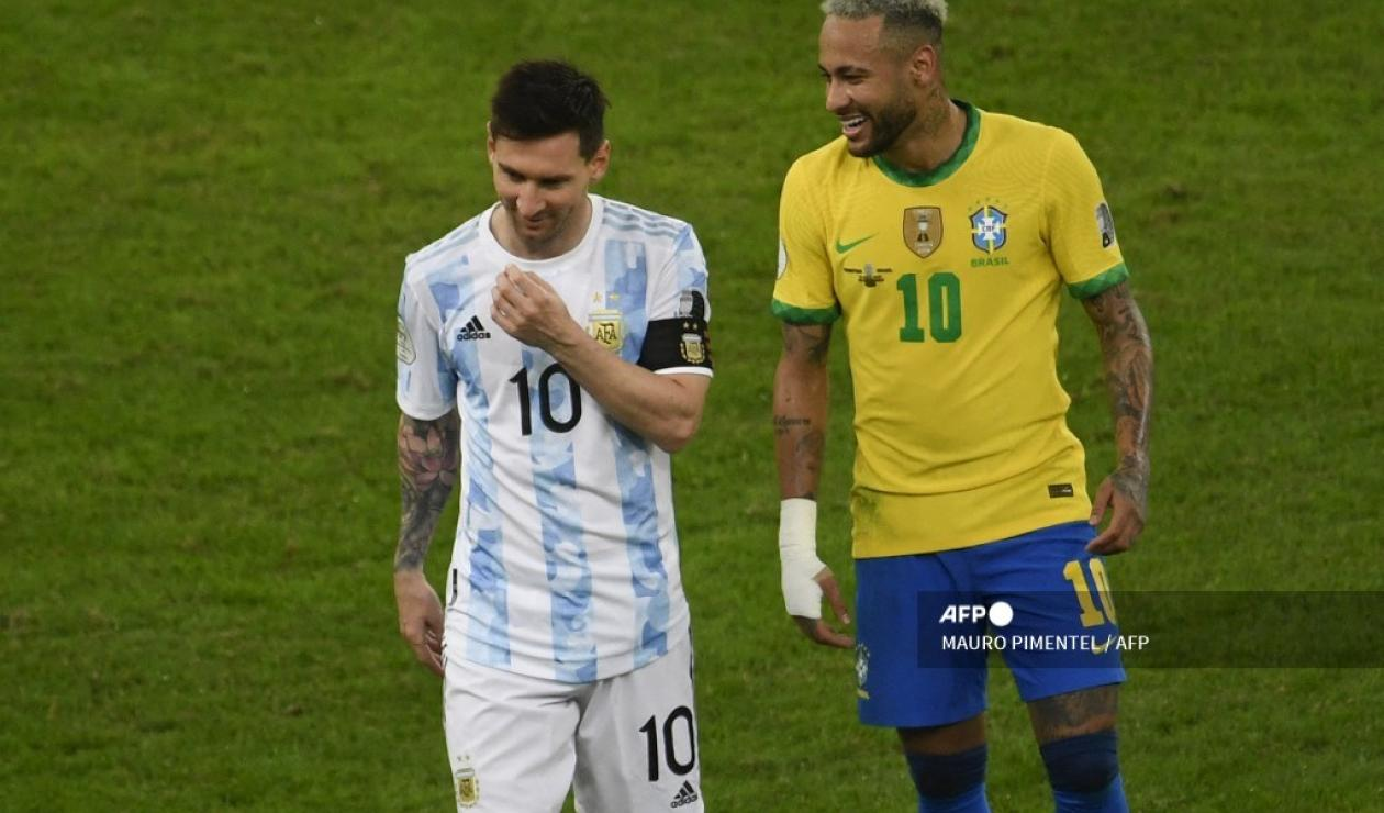 Neymar y Messi - Copa América 2021