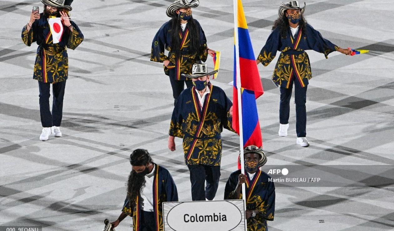Colombia en desfile olímpico
