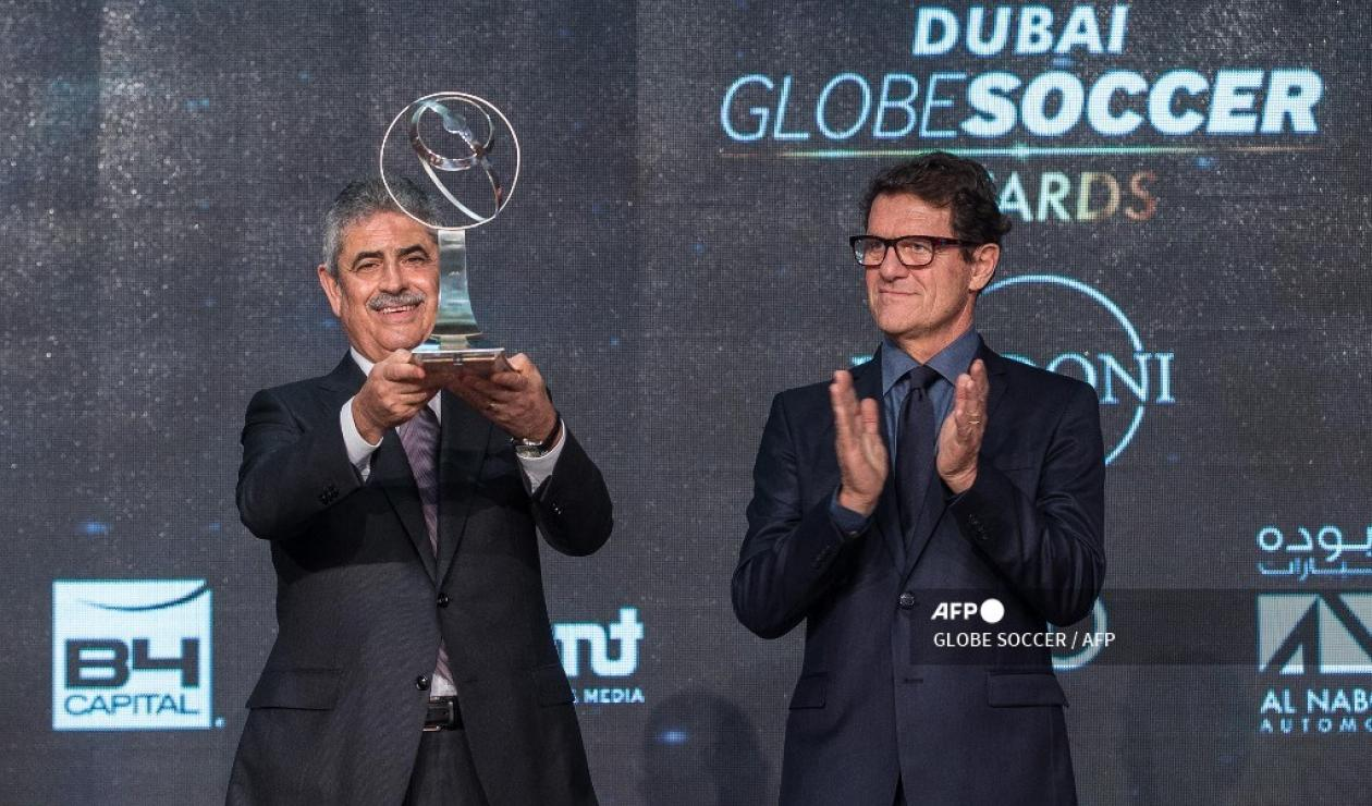 Luís Filipe Vieira y Fabio Capello