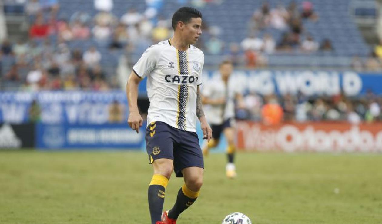 James Rodríguez, volante del Everton