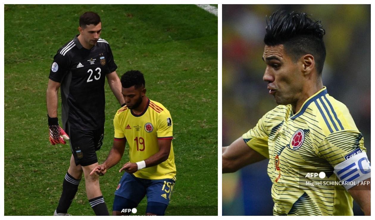 Emiliano Martínez, Miguel Borja y Falcao