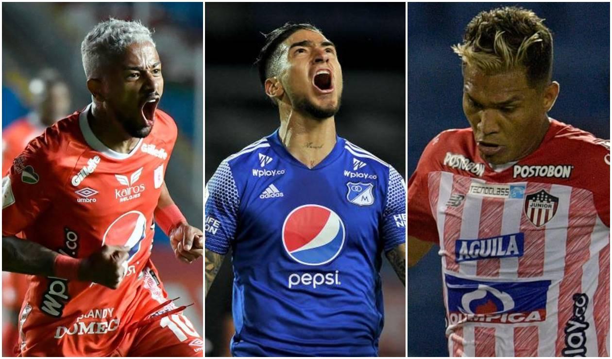 Yesus Cabrera, Chicho Arango y Teo Gutiérrez