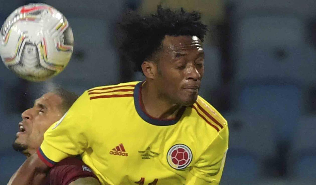 Cuadrado, jugador de Colombia