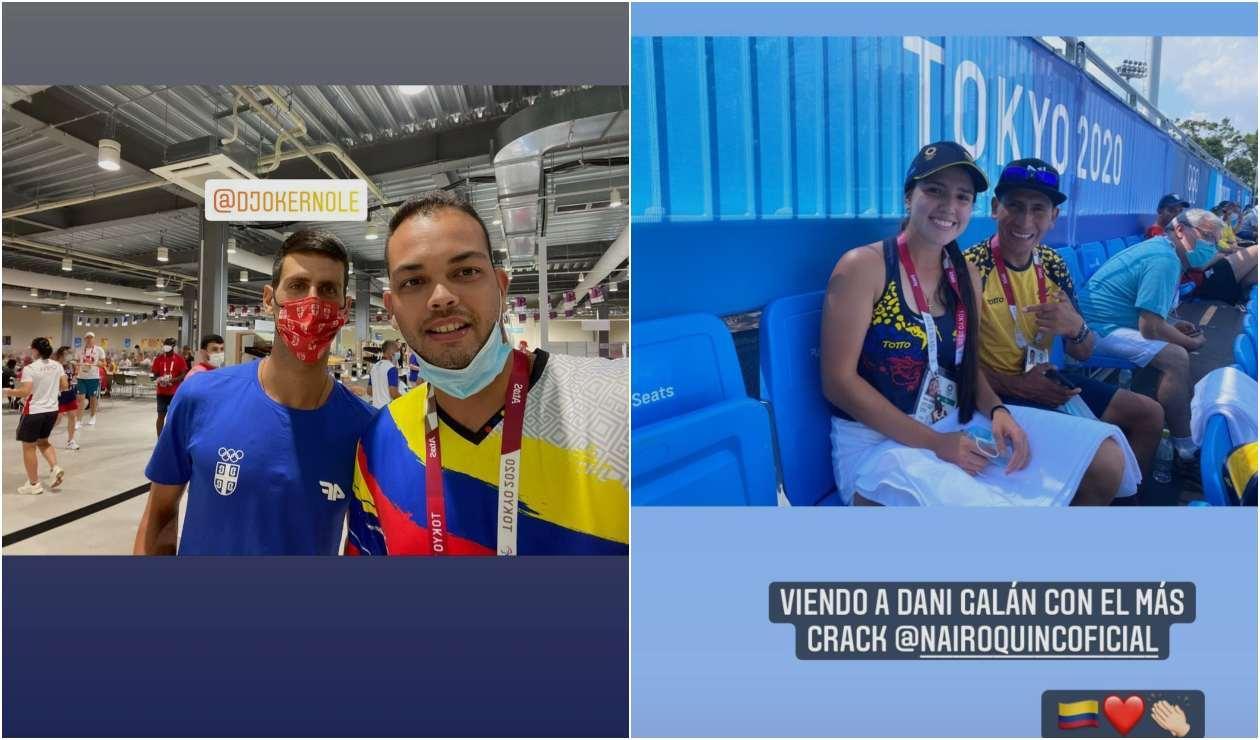 Daniel Pineda, Nairo Quintana y María Camila Osorio