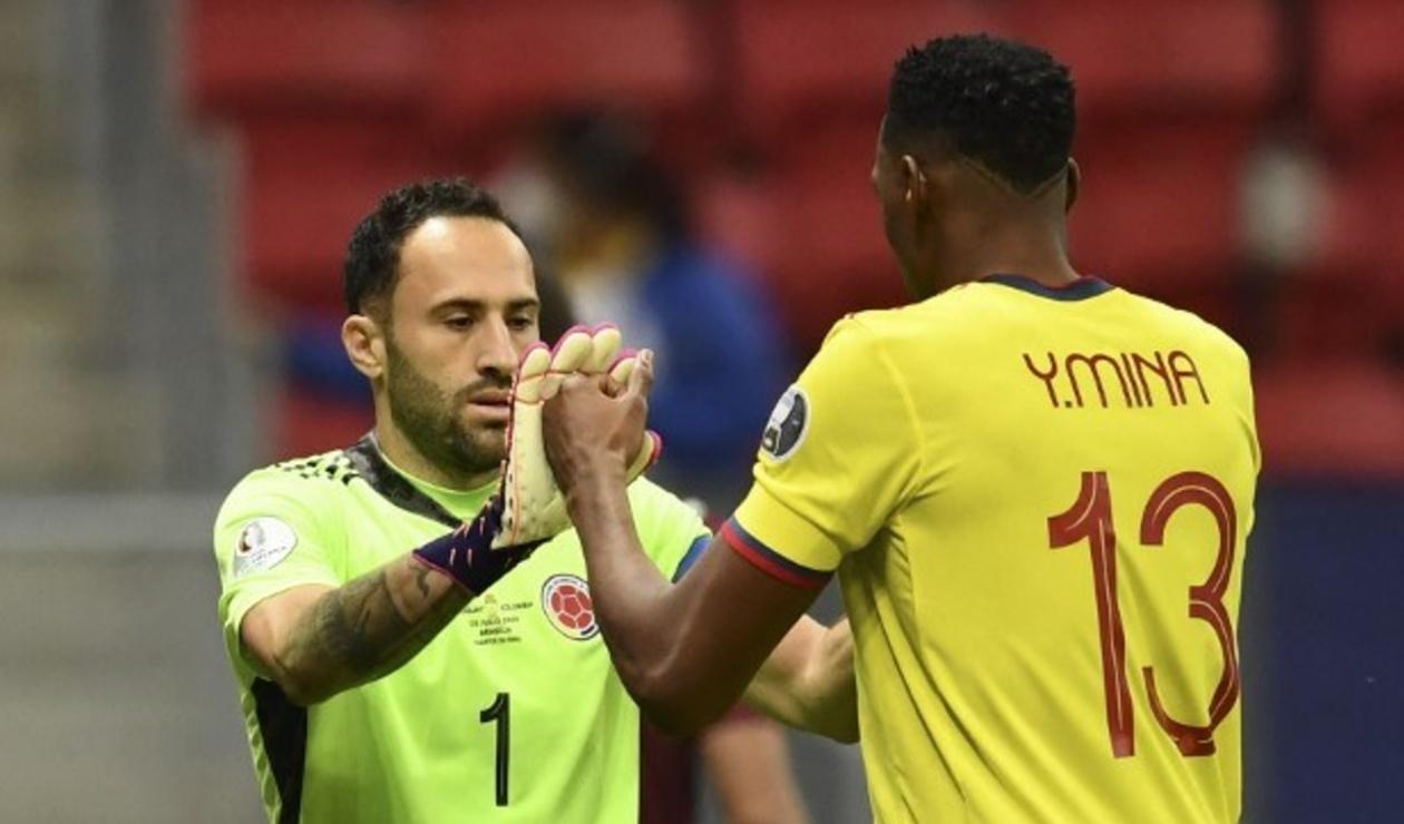 David Ospina y Yerri Mina; Selección Colombia 2021