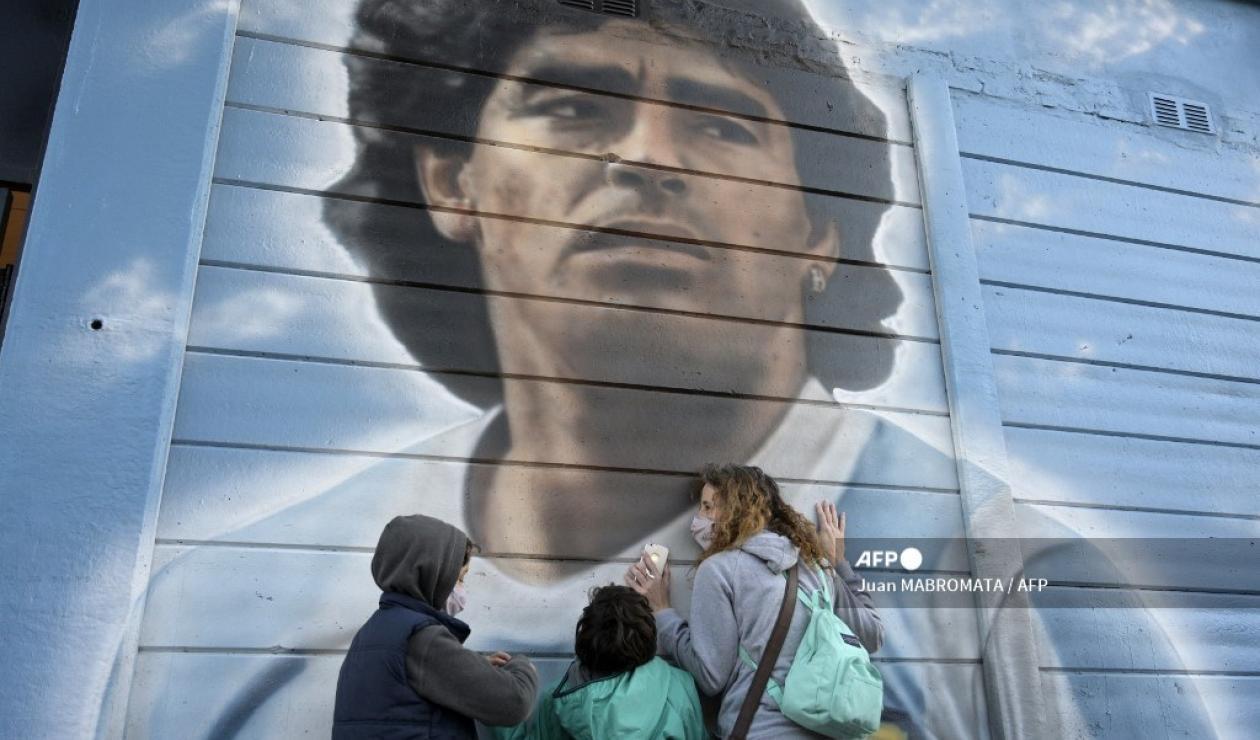 Mural de Diego Maradon