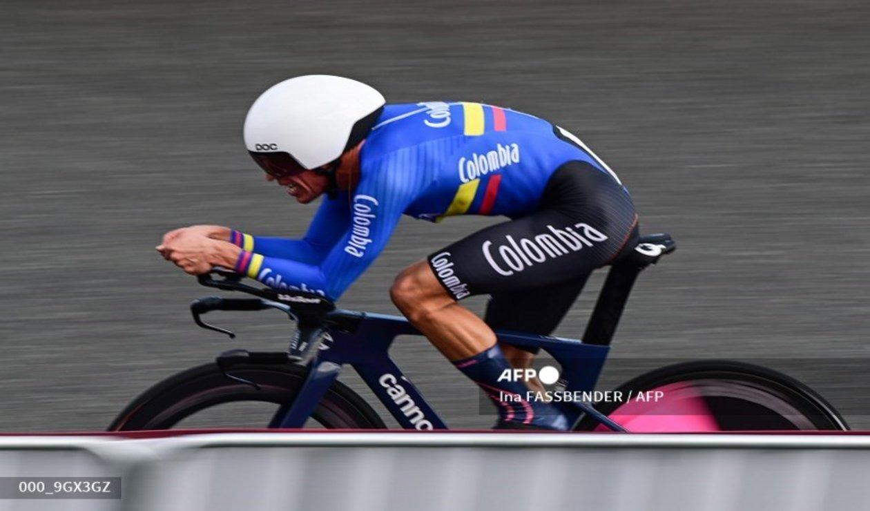 Rigoberto Urán en la contrarreloj de los Juegos Olímpicos