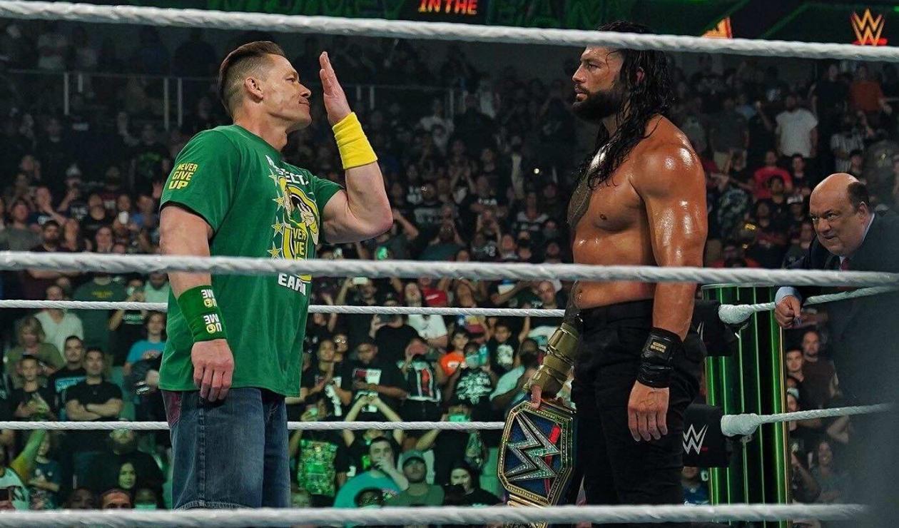 John Cena y Roman Reigns en WWE