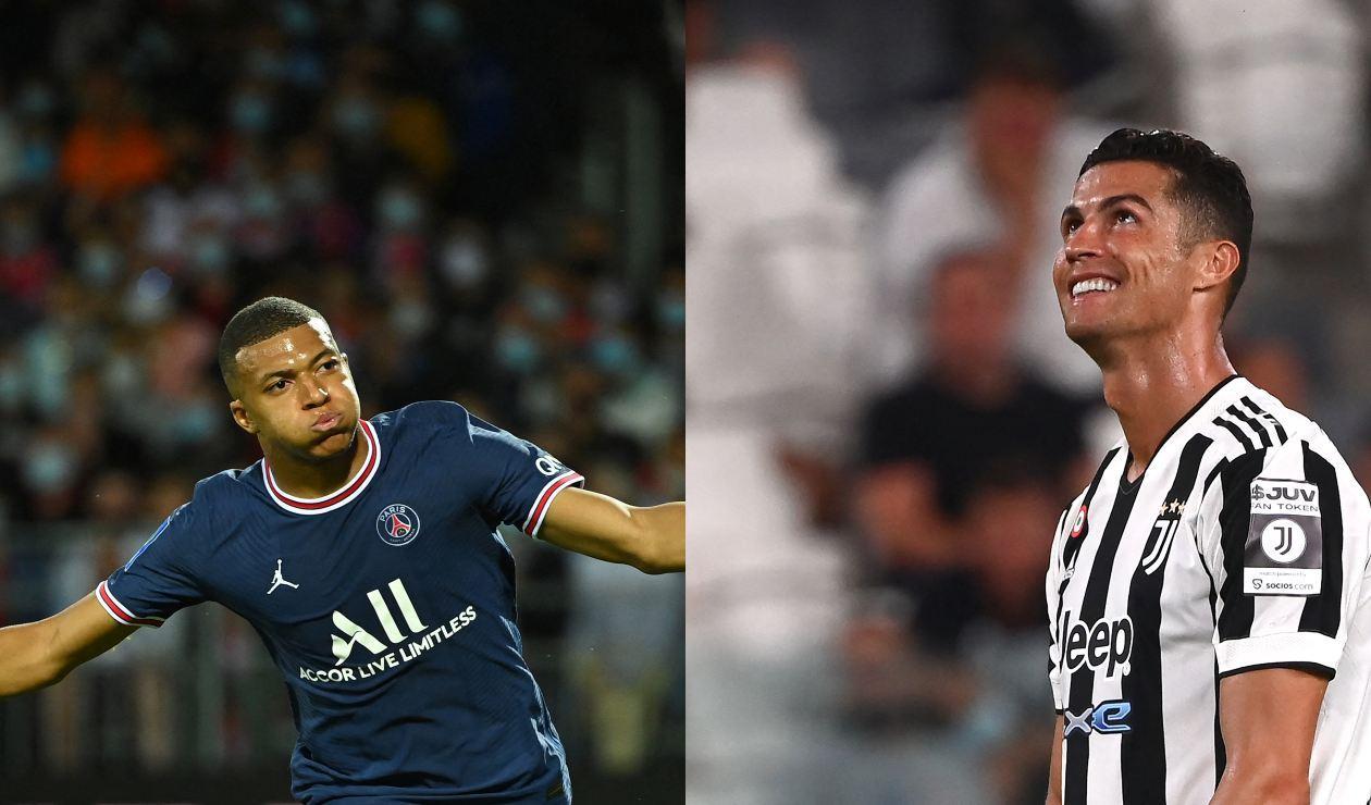 Mbappé y Cristiano Ronaldo