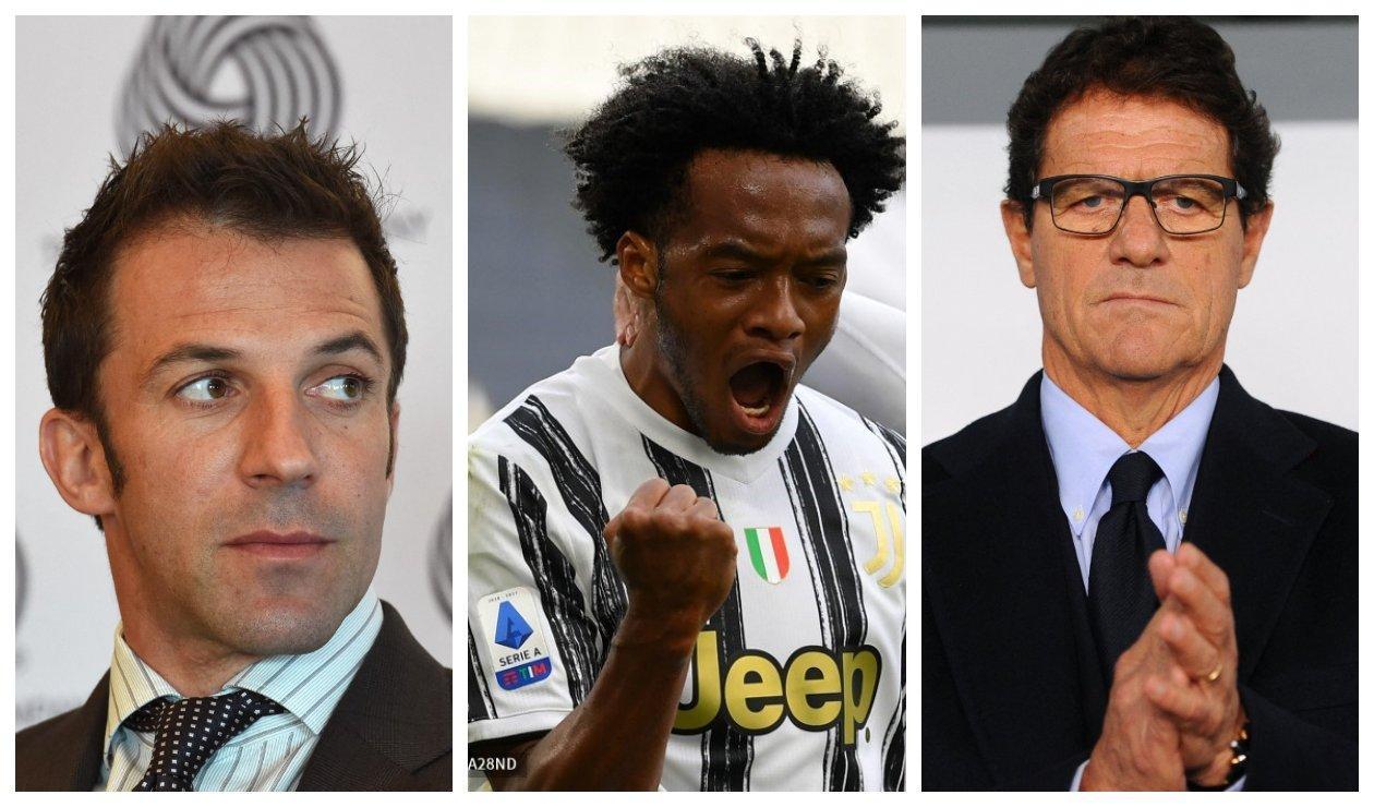 Del Piero, Cuadrado y Capello